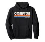 Vintage 70s 80s Style Compton CA Pullover Hoodie, T Shirt, Sweatshirt