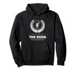 Reds Football Round Leaf Designs Pullover Hoodie, T Shirt, Sweatshirt