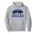 Dallas Texas Skyline Vintage Distressed Football Pullover Hoodie, T Shirt, Sweatshirt