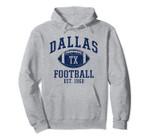 Dallas Texas Vintage Distressed Football Pullover Hoodie, T Shirt, Sweatshirt