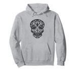 Skull, Sugar, Skull, Halloween, Pattern, Flowers, Mexico, Pullover Hoodie, T Shirt, Sweatshirt