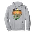 Sunset Flowers Minimal Art Vintage Essence Nature Lover Gift Pullover Hoodie, T Shirt, Sweatshirt