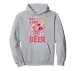 Just A Girl Who Loves Deer Funny Elk Flower Floral Gifts Pullover Hoodie, T Shirt, Sweatshirt