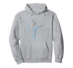 Cute Blue Flower Tutu Ballerina - Ballet, Dance and Sports. Pullover Hoodie, T Shirt, Sweatshirt