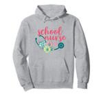 Pretty Flowers Stethoscope School Nurse Appreciation Pullover Hoodie, T Shirt, Sweatshirt