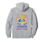 Jasmine Unicorn Hearts Flowers Arrow Girls Personalized Gift Pullover Hoodie, T Shirt, Sweatshirt