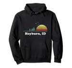 Vintage Heyburn, Idaho Home Souvenir Print Pullover Hoodie, T Shirt, Sweatshirt