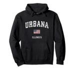Urbana Illinois IL Vintage American Flag Sports Design Pullover Hoodie, T Shirt, Sweatshirt