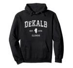 DeKalb Illinois IL Vintage Athletic Sports Design Pullover Hoodie, T Shirt, Sweatshirt