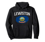 LEWISTON ID IDAHO Flag Vintage USA Sports Men Women Pullover Hoodie, T Shirt, Sweatshirt