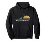 Vintage Ligonier, Indiana Sunset Souvenir Print Pullover Hoodie, T Shirt, Sweatshirt