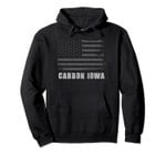 American Flag Carbon, Iowa USA Patriotic Souvenir Pullover Hoodie, T Shirt, Sweatshirt