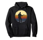 Mens Musical Instrument Retro Silhouette Guitarist Player Pullover Hoodie, T Shirt, Sweatshirt