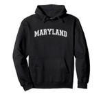 Vintage University-look Maryland Distressed Pullover Hoodie, T Shirt, Sweatshirt