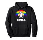 Boise Idaho - LGBTQ Gay Pride Rainbow Pullover Hoodie, T Shirt, Sweatshirt