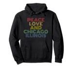 Chicago Illinois retro vintage Pullover Hoodie, T Shirt, Sweatshirt