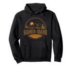 Vintage Hamer, Idaho Mountain Hiking Souvenir Print Pullover Hoodie, T Shirt, Sweatshirt