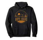 Vintage Hope, Idaho Mountain Hiking Souvenir Print Pullover Hoodie, T Shirt, Sweatshirt