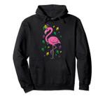 Jester Pink Flamingo Bird Animal Cute Mardi Gras Carnival Pullover Hoodie, T Shirt, Sweatshirt