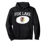 FOX LAKE IL ILLINOIS Flag Vintage USA Sports Men Women Pullover Hoodie, T Shirt, Sweatshirt