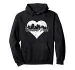 Retro Overland Park Kansas Skyline Heart Distressed Pullover Hoodie, T Shirt, Sweatshirt