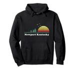 Vintage Newport, Kentucky Sunset Souvenir Print Pullover Hoodie, T Shirt, Sweatshirt
