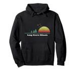 Vintage Long Grove, Illinois Sunset Souvenir Print Pullover Hoodie, T Shirt, Sweatshirt