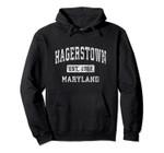 Hagerstown Maryland MD Vintage Established Sports Design Pullover Hoodie, T Shirt, Sweatshirt