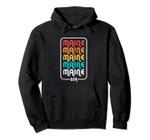 Maine Vintage 1970's 1980's Retro Pullover Hoodie, T Shirt, Sweatshirt