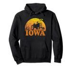 Vintage Distressed Iowa 70s 80s Sunrise Design IA Distressed Pullover Hoodie, T Shirt, Sweatshirt
