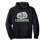 Climb Louisiana Retro Rock Climbing Vintage Carabiner Pullover Hoodie, T Shirt, Sweatshirt