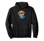 Vintage Keokuk, Iowa Sunset Souvenir Print Pullover Hoodie, T Shirt, Sweatshirt
