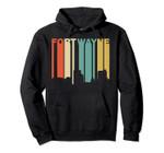 Retro 1970's Style Fort Wayne Indiana Skyline Hoodie, T Shirt, Sweatshirt