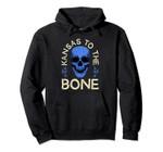 Kansas To The Bone Vintage Blue Skull Pullover Hoodie, T Shirt, Sweatshirt