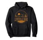 Vintage Lewisville, Idaho Mountain Hiking Souvenir Print Pullover Hoodie, T Shirt, Sweatshirt