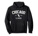 Vintage Chicago Illinois Est. 1833 Souvenir Gift Pullover Hoodie, T Shirt, Sweatshirt