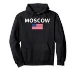 Cool Moscow City ID Idaho Usa Flag Pullover Hoodie, T Shirt, Sweatshirt