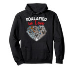 Koalafied in Love Koala Bear Heart Shape Valentines Day Gift Pullover Hoodie, T Shirt, Sweatshirt