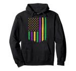 USA Patriotic Mardi Gras American Flag Carnival Celebration Pullover Hoodie, T Shirt, Sweatshirt