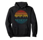 Chicago Skyline Vintage Retro Illinois Pride Gift Pullover Hoodie, T Shirt, Sweatshirt