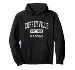 Coffeyville Kansas KS Vintage Established Sports Design Pullover Hoodie, T Shirt, Sweatshirt