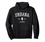 Urbana Illinois IL Vintage Athletic Sports Design Pullover Hoodie, T Shirt, Sweatshirt