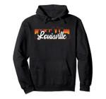 Vintage Style Retro Louisville Kentucky Sunset Skyline Pullover Hoodie, T Shirt, Sweatshirt