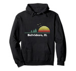 Vintage Belvidere, Illinois Home Souvenir Print Pullover Hoodie, T Shirt, Sweatshirt