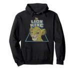 Disney Lion King Retro Cute Simba Face Pullover Hoodie, T Shirt, Sweatshirt