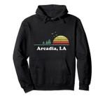 Vintage Arcadia, Louisiana Home Art Illustration Souvenir Pullover Hoodie, T Shirt, Sweatshirt