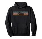 Iowa IA USA Retro State Pullover Hoodie, T Shirt, Sweatshirt