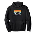 Vintage Ponderay, Idaho Mountain Hiking Souvenir Print Pullover Hoodie, T Shirt, Sweatshirt