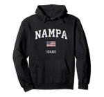 Nampa Idaho ID Vintage American Flag Sports Design Pullover Hoodie, T Shirt, Sweatshirt