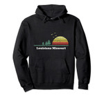 Vintage Louisiana, Missouri Sunset Souvenir Print Pullover Hoodie, T Shirt, Sweatshirt